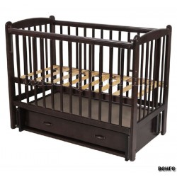 Детская кроватка Счастливый Малыш Кроха-2 поперечный маятник с ящиком