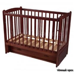 Детская кроватка для новорожденного продольный маятник Счастливый Малыш Кроха-2 с ящиком