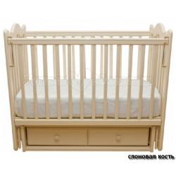 Детская кроватка Счастливый Малыш Дюймовочка поперечный маятник+ящик