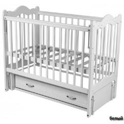 Детская кроватка Счастливый малыш Дюймовочка стразы сваровски, продольный маятник с ящиком
