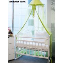 Детская кроватка качалка на колёсиках Мой малыш 01