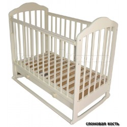 Кроватка для новорожденного Мой малыш 07 качалка + колёса + ящик