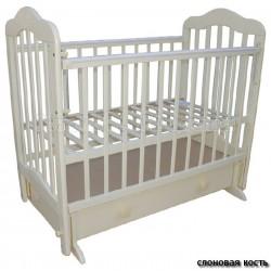Детская кроватка Мой малыш 03 (маятник поперечный, ящик)