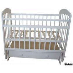 Детская кроватка Мой малыш 08 (маятник поперечный, ящик)