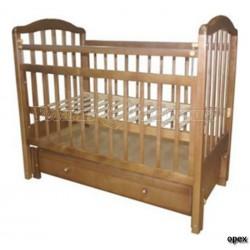 Кроватка для новорожденного Мой малыш 10 (кристаллы Своровски) продольный маятник + закрытый ящик