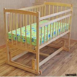 Детская кроватка поперечный маятник Бэби 4 Массив