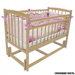 Детская кроватка продольный маятник Бэби 3 Массив
