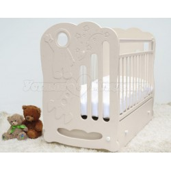 Кроватка для новорождённого Островок уюта Космос поперечный маятник, с ящиком