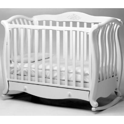 Детская кроватка Baby Italia Andrea VIP LUX колёса + качалка + ящик