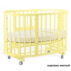 Детская круглая кроватка трансформер для новорожденного Nuovita Nido Magia с поперечным маятником