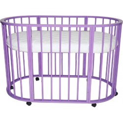 Детская круглая кроватка для новорожденного Valle Bianca 4 в 1