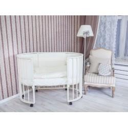 Детская круглая кроватка для новорожденного трансформер Седьмое небо MERRY HAPPY 6 в 1