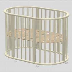 Детская круглая (овальная) кроватка для новорожденного Ведрусс Оливия