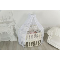 Детская круглая (овальная) кроватка трансформер для новорожденного Uoma DaVinci 6 в 1