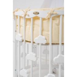 Детская круглая кроватка для новорожденного трансформер ComfortBaby SmartGrow 7 в 1 Limited