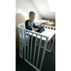 Круглая (овальная) кроватка трансформер 7в1 Jakomo DIA Бук
