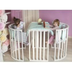 Детская круглая кроватка трансформер Incanto Gio Deluxe 7в1