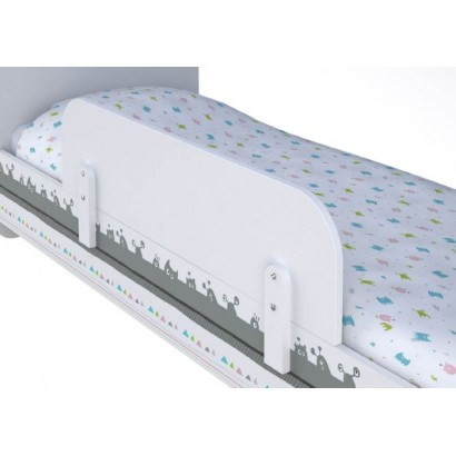 Бортик для кроватки Polini Basic белый