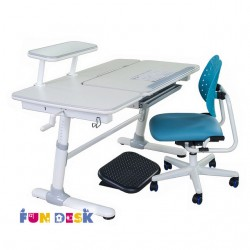 Растущий стол для школьника FunDesk Invito SST2 с ортопедическим креслом