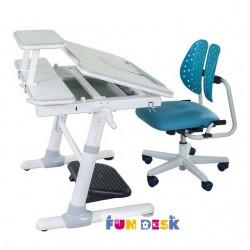 Парта трансформер для школьника FunDesk Carezza с ортопедическим креслом SST2