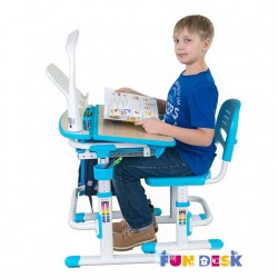 Парта трансформер с ортопедическим стулом FunDesk Cura