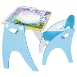 Набор детской мебели Интехпроект Части света парта-мольберт-стульчик