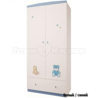 Шкаф двухсекционный с ящиком Polini Плюшевые мишки 1991