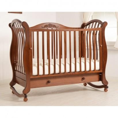 Детская кроватка для новорожденного Гандылян Габриэлла люкс колёса+качалка+ящик