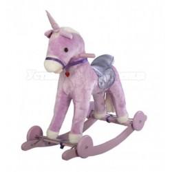 Музыкальная качалка Единорог с колесами Jolly Ride 615