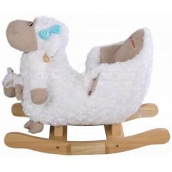 Музыкальная качалка мягкая Овечка с игрушкой Jolly Ride 2580
