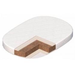 Матрас для овальной кроватки Vikalex Перуджа кокосовая койра/латекс 92*65 см