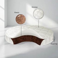 Детский матрас в круглую кроватку Nuovita BabySleep Nido Magia Coconut кокосовая койра 75 см