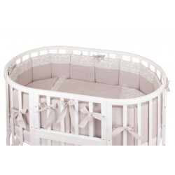 Бампер в круглую и овальную кроватку Nuovita Prestigio сатин