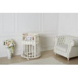 Универсальный комплект для круглой и овальной кроватки Incanto 6083 (6 предметов) сатин