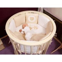 Комплект для круглой и овальной кроватки Incanto универсальный (6 предметов) сатин