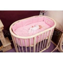 Комплект для овальной кроватки Incanto Тигрята (6 предметов) сатин
