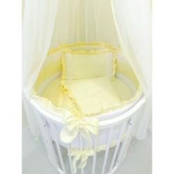 Комплект универсальный для круглой и овальной кроватки Incanto Тева (13 предметов) сатин