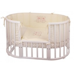 Комплект для овальной кроватки Nuovita Leprotti (6 предметов) сатин