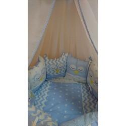 Универсальный комплект для круглой и овальной кроватки Совята (11 предметов) бязь
