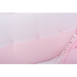 Универсальный авторский комплект в круглую и овальную кроватку СomfortBaby Elite Сакура 7 предметов сатин