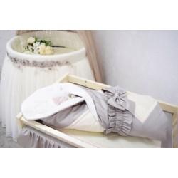 Авторский универсальный комплект ComfortBaby Люкс Балерина в круглую и овальную кроватку сатин