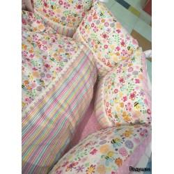 Универсальный комплект в круглую и овальную кроватку ComfortBaby Colorit 7 предметов сатин
