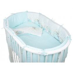 Комплект для овальной кроватки Pituso Мишки (6 предметов) бязь