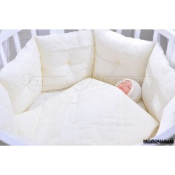 Комплект для круглой кроватки GulSara (10 предметов) сатин, фатин, бязь