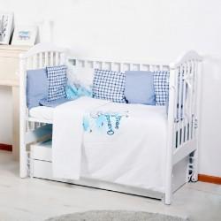 Универсальный комплект в кроватку BamBola Вокруг света (6 предметов) бязь
