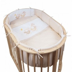Комплект для овальной кроватки Pituso На лужайке (6 предметов) сатин