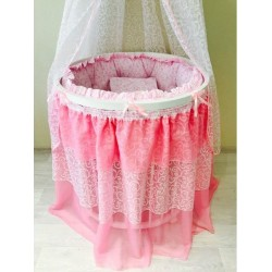 Комплект универсальный для круглой и овальной кроватки Incanto BABY-LUX сатин 12 предметов