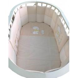 Универсальный комплект в круглую и овальную кроватку Селена 17 ОК 8 предметов бязь