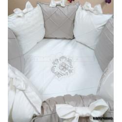Универсальный комплект для круглой и овальной кроватки Versento Suite 8 предметов сатин
