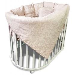 Постельное белье в круглую кроватку Версаль 4 предмета
